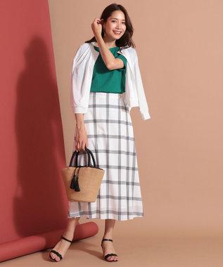 any SiS S 【洗える】ライトサマーフレア スカート ホワイト系2