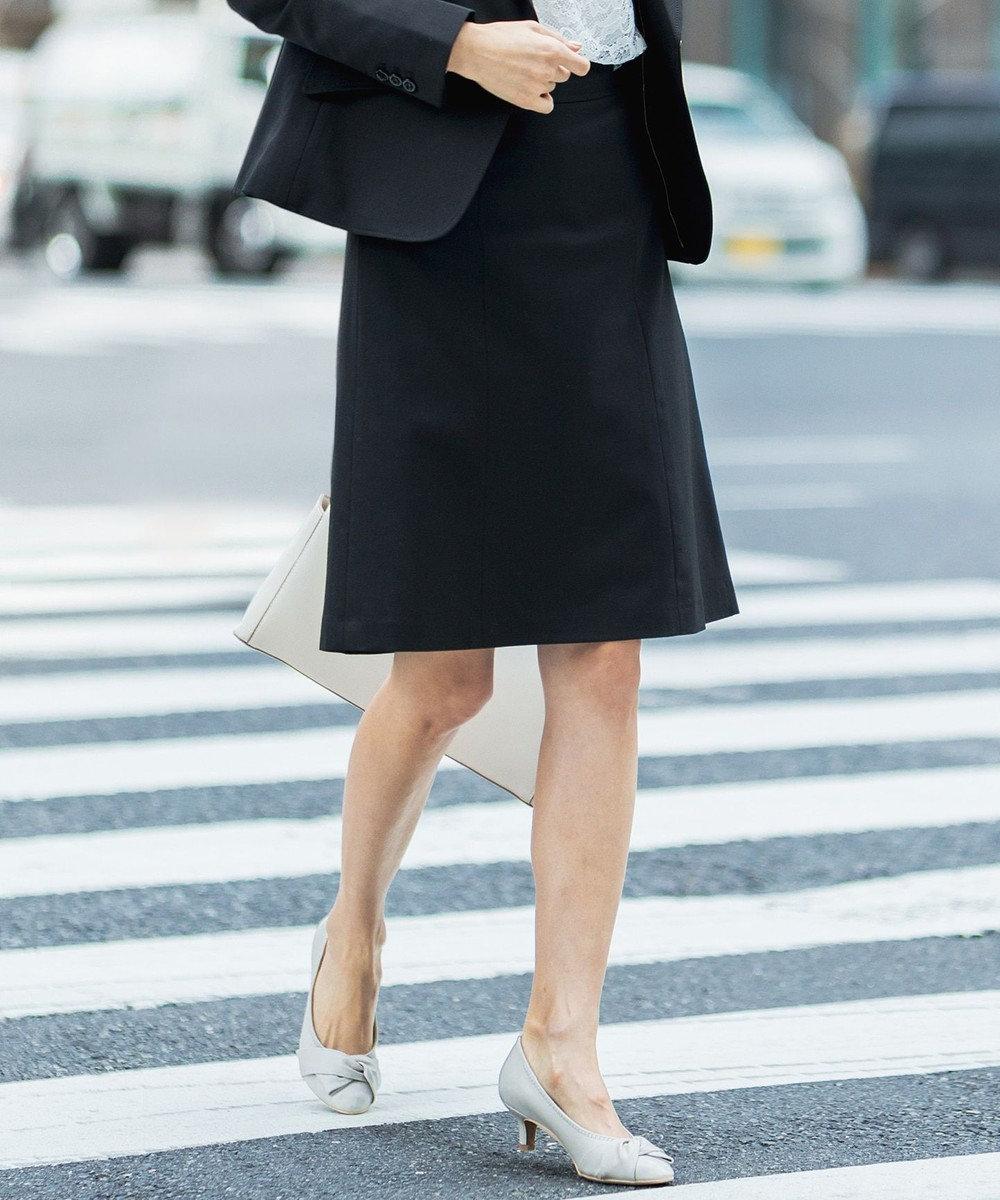 any SiS 【洗える】ウォッシャブルT/Wスーツ スカート ブラック系