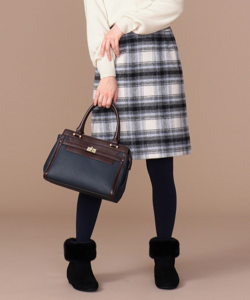 any SiS コンパクトチェック スカート モノトーン系