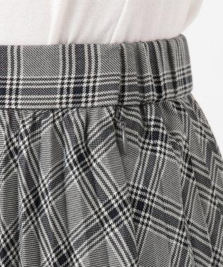 any SiS S 【洗える】チェックプリーツロング スカート モノトーン系