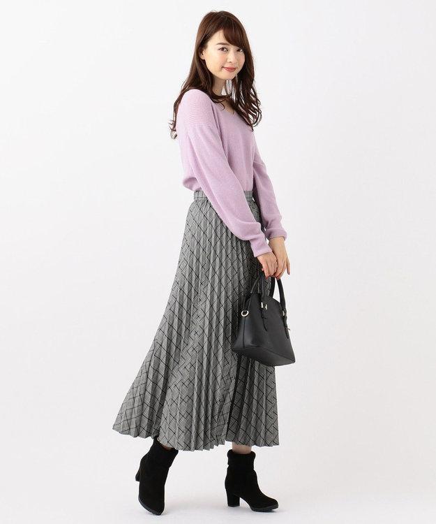 any SiS S 【洗える】チェックプリーツロング スカート