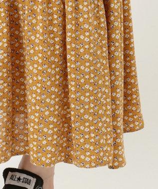 any SiS S 【L'aube】アンティークフラワーロング スカート サンフラワー