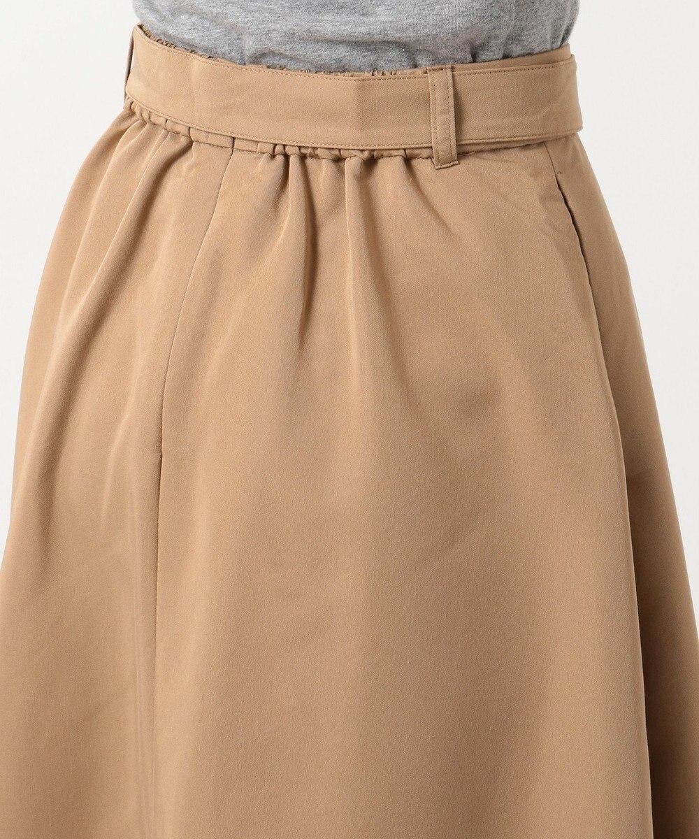 any SiS フロントボタンフレア スカート ブラウン系
