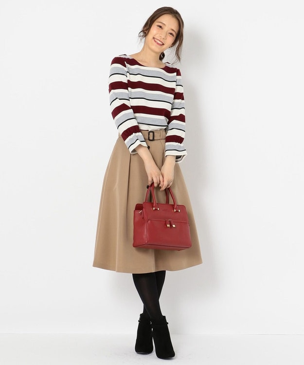 any SiS フロントボタンフレア スカート