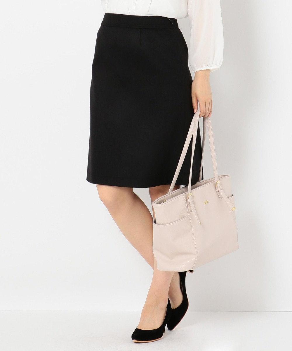 any SiS 【洗える・セットアップ対応】T/Rウォッシャブルスーツ スカート ブラック系