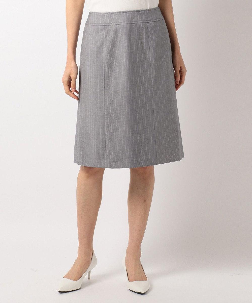 any SiS 【洗える】T/Rウォッシャブルスーツ スカート ライトグレー系1