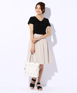 any SiS S 【洗える】スプリングタック スカート ベージュ系