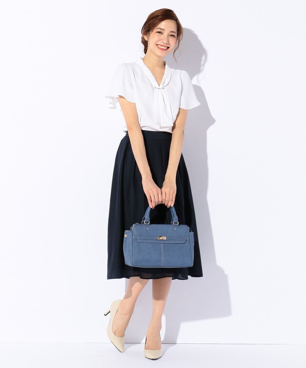 any SiS 【洗える】イレギュラーヘムカラー スカート ネイビー系