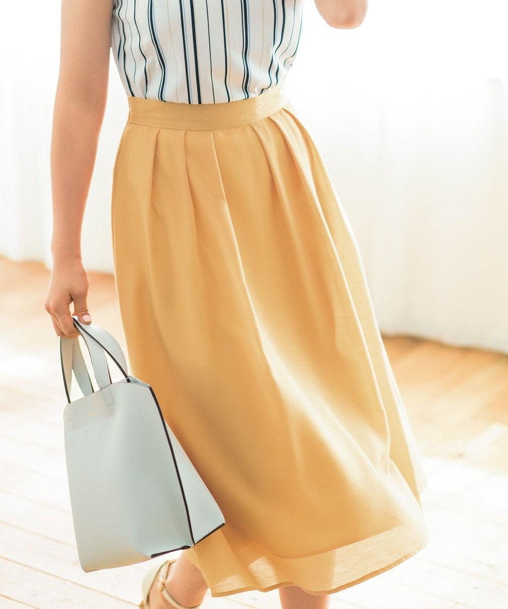 any SiS 【洗える】イレギュラーヘムカラー スカート イエロー系