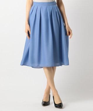 any SiS 【洗える】イレギュラーヘムカラー スカート サックスブルー系