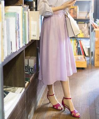 any SiS 【洗える】イレギュラーヘムカラー スカート ライラック系