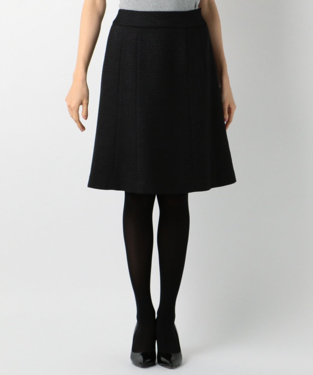 any SiS 【セットアップ対応】リップルボーダーストレッチ スカート ブラック系