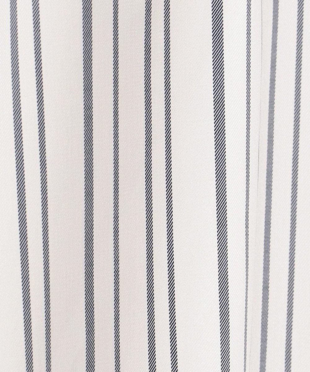 any SiS 【サッシュベルト付】ストライプフレア スカート ネイビー系1