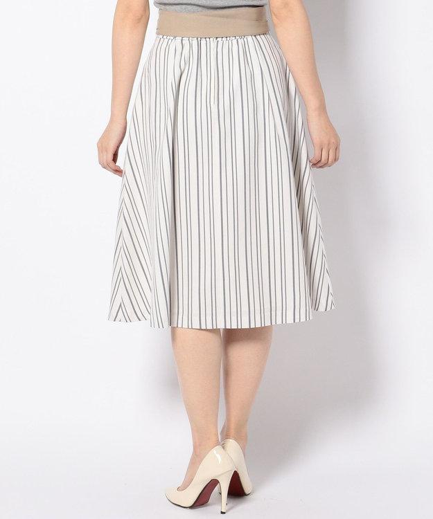 any SiS 【サッシュベルト付】ストライプフレア スカート
