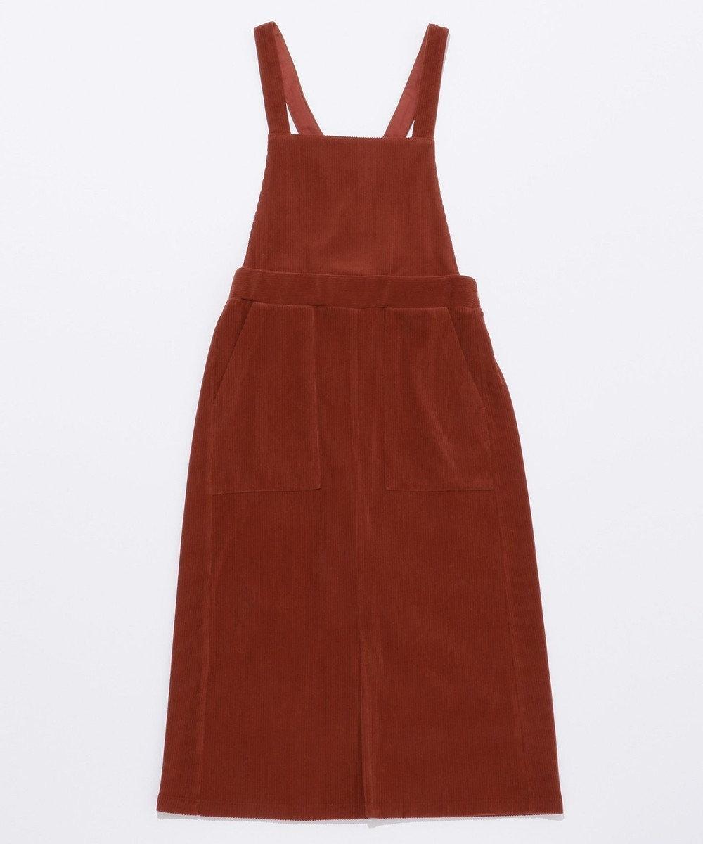 any SiS 【2WAY・洗える】L'aube コーデュロイ サロペット付き スカート ブラウン系
