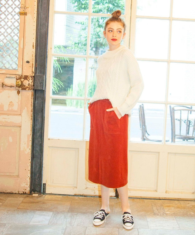 any SiS 【2WAY・洗える】L'aube コーデュロイ サロペット付き スカート