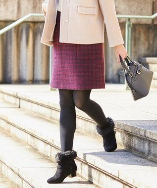 any SiS 【洗える】コンパクトウォーム スカート ワイン系2