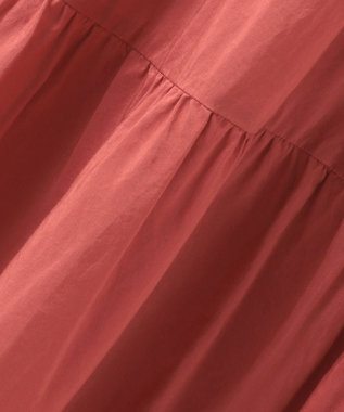 23区 L 【洗える】SILK COTTON LAWN スカート レッド系