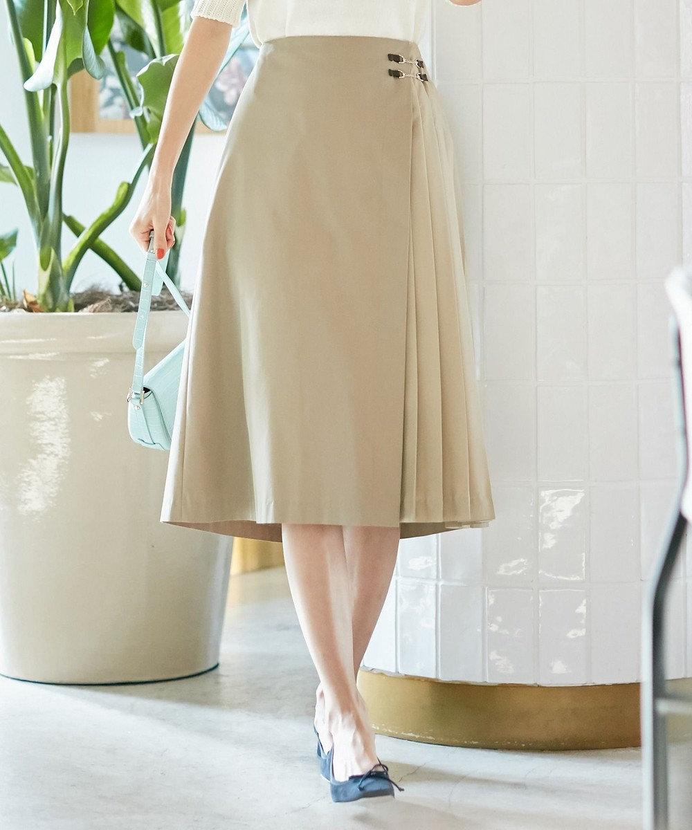 組曲 L 【Lサイズ仕様】C/Nyソフトタンブラー スカート ベージュ系