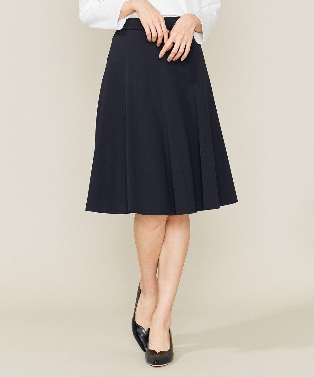 組曲 L 【Lサイズ仕様】ファンクショナルモクロディフレアスカート ネイビー系