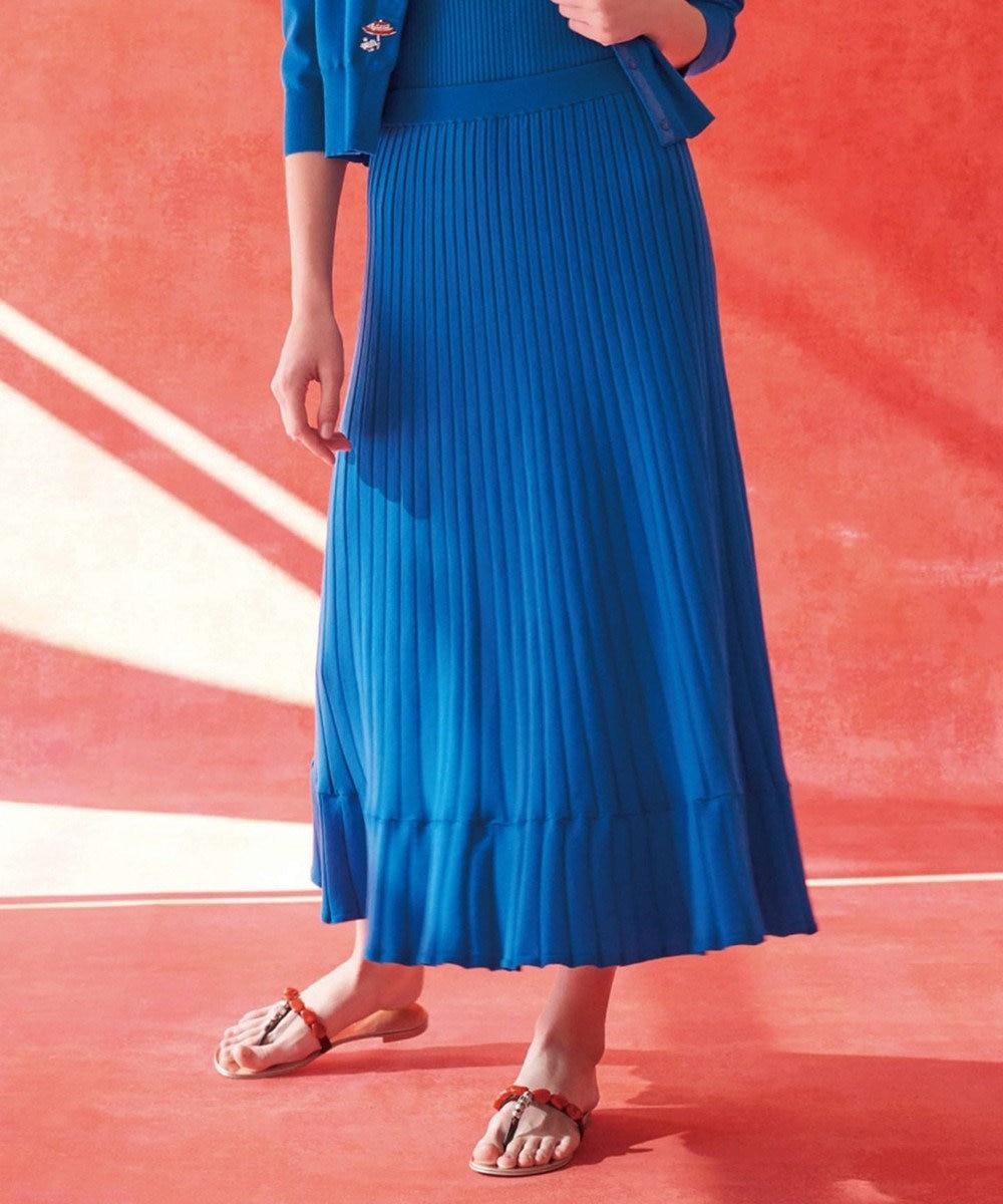 組曲 【Rythme KUMIKYOKU】MarrakechResort ニットスカート ブルー系