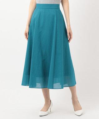 組曲 S 【軽くて涼しい!】TCボイル スカート ダークグリーン系