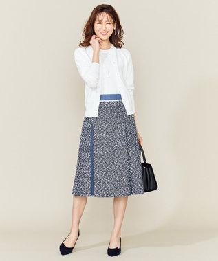 組曲 L デニムMIXツイード スカート ネイビー系5