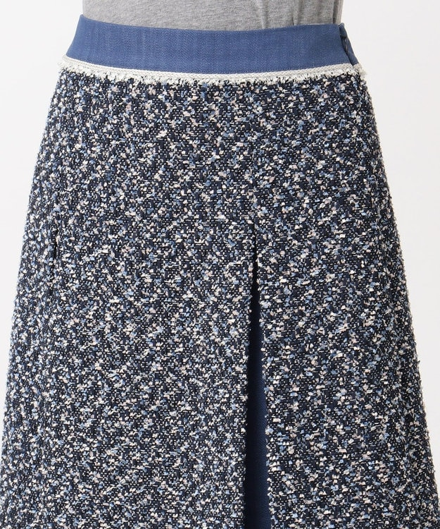 組曲 L デニムMIXツイード スカート