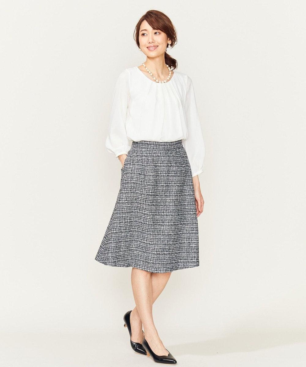 組曲 【セットアップ対応】ラメループモールツイード スカート ネイビー系1