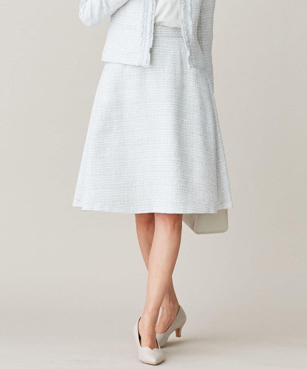 組曲 S 【セットアップ対応】ラメループモールツイード スカート ライトグレー系