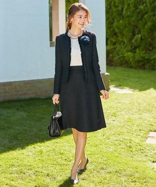 組曲 【セットアップ対応】ラメループモールツイード スカート ネイビー系