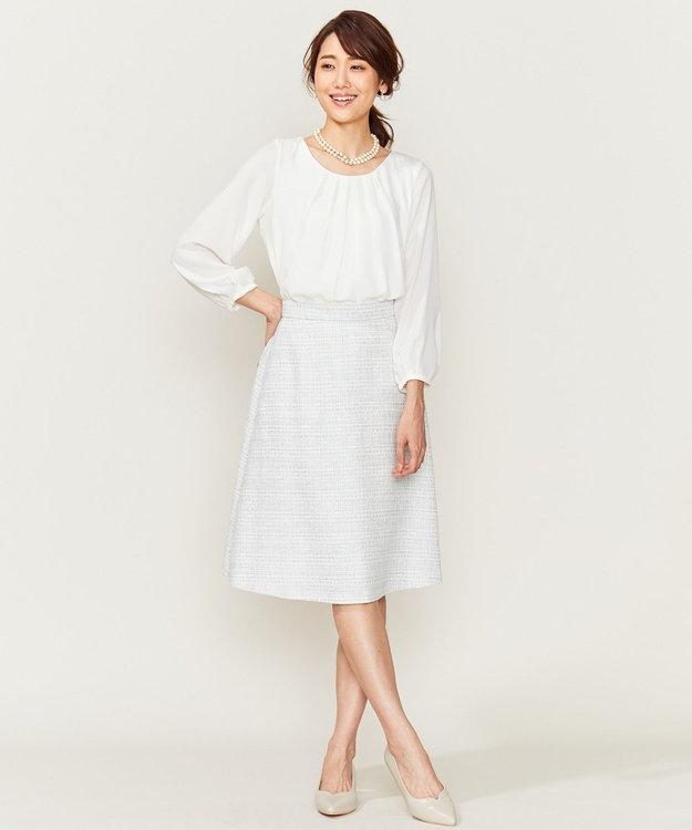組曲 【セットアップ対応】ラメループモールツイード スカート
