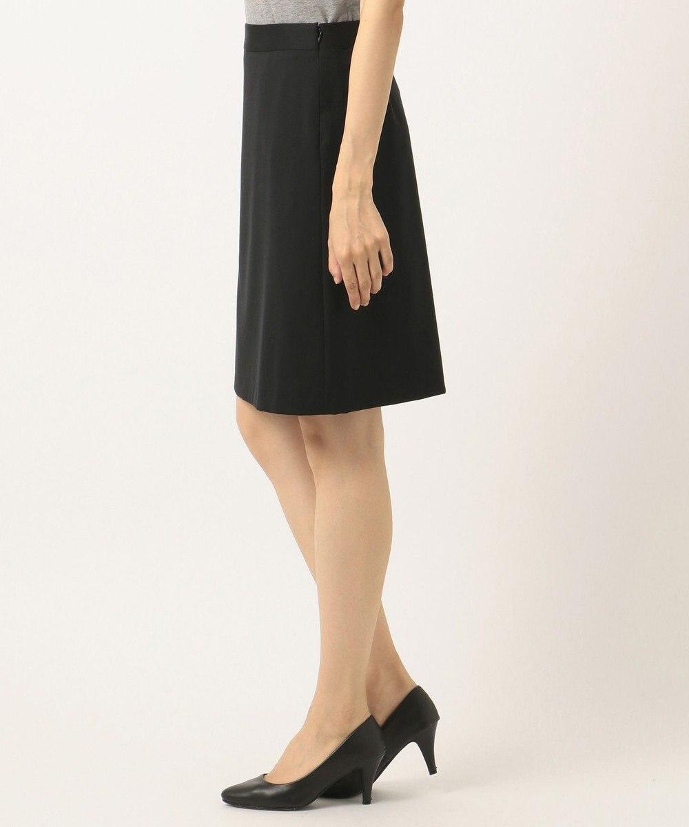 組曲 L 【セットアップ対応】ウォッシャブルウールストレッチ スカート ブラック系