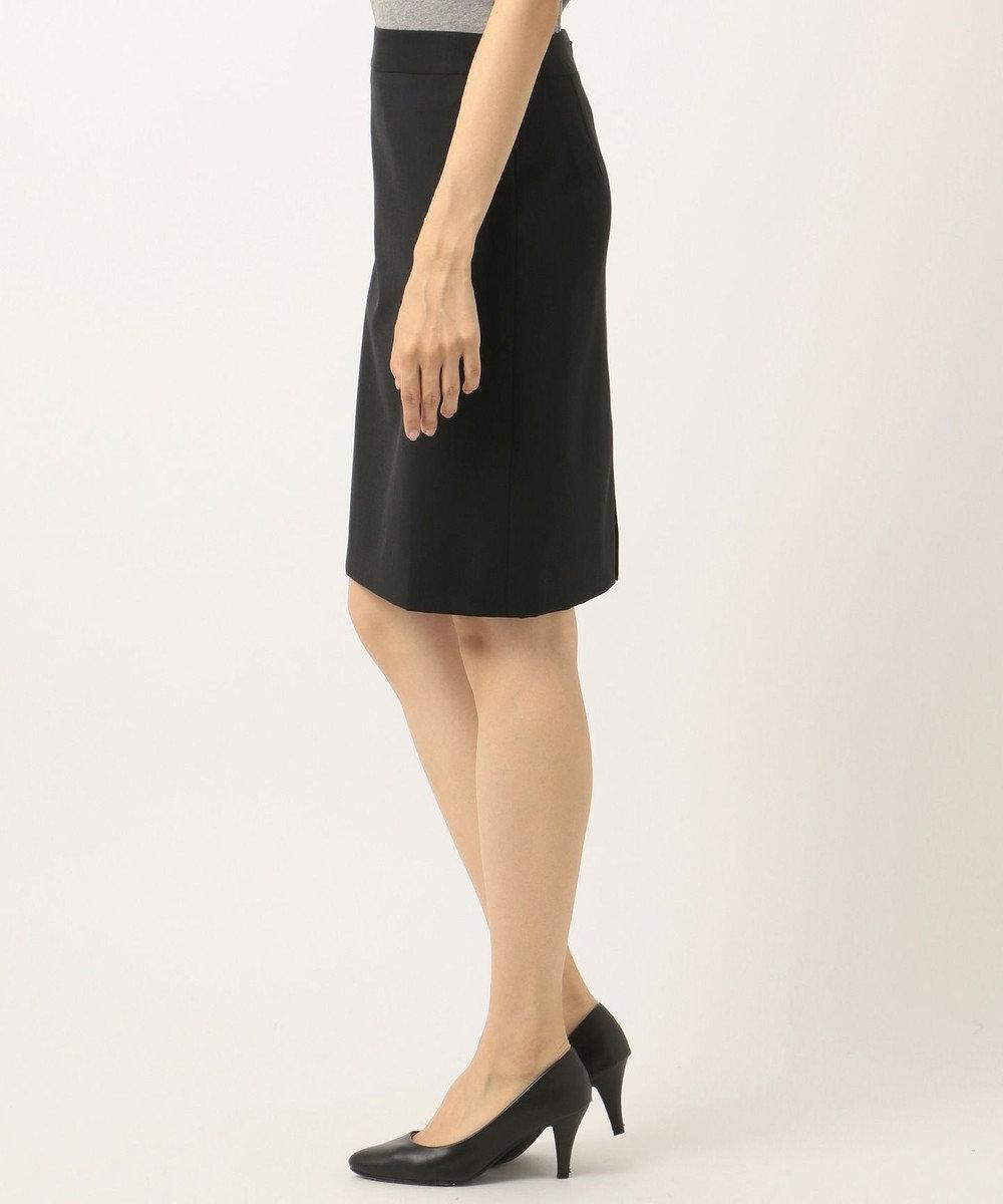 組曲 L 【セットアップ対応】ウォッシャブルウールストレッチ タイトスカート ブラック系