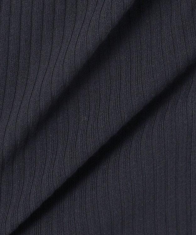組曲 【洗える】スムースストレッチ リブニットスカート