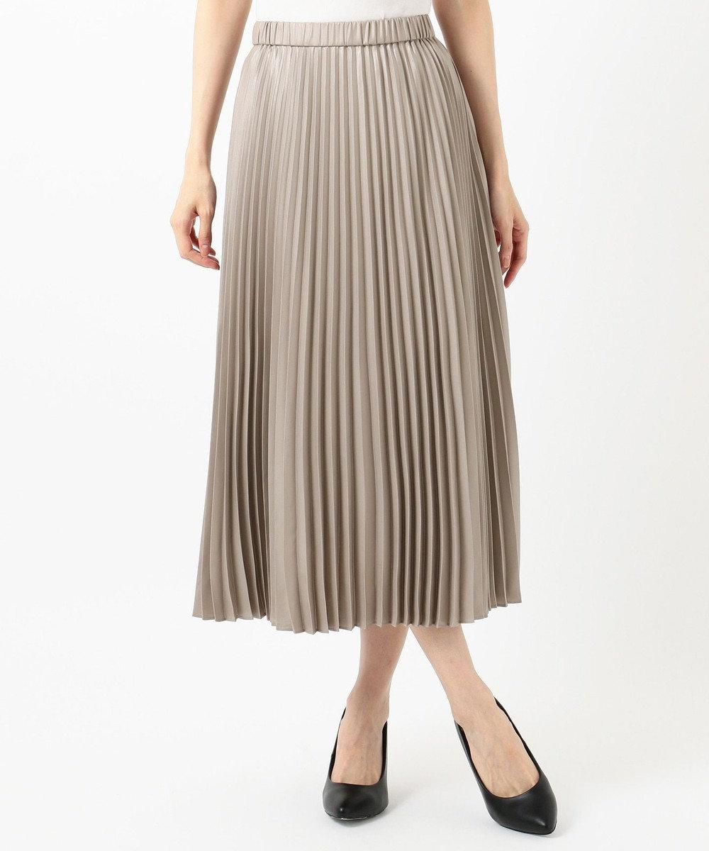 組曲 【春の新色2色登場!/洗える】アコーディオン プリーツスカート グレー系