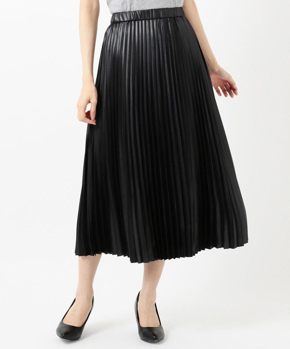 組曲 【春の新色2色登場!/洗える】アコーディオン プリーツスカート ブラック系