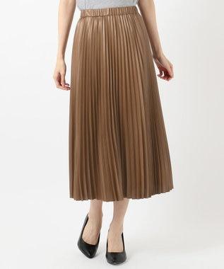 組曲 【春の新色2色登場!/洗える】アコーディオン プリーツスカート ブラウン系