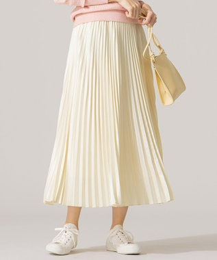 組曲 【春の新色2色登場!/洗える】アコーディオン プリーツスカート アイボリー系