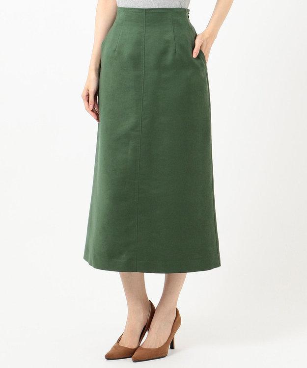 組曲 【洗える】マットスエード タイトスカート
