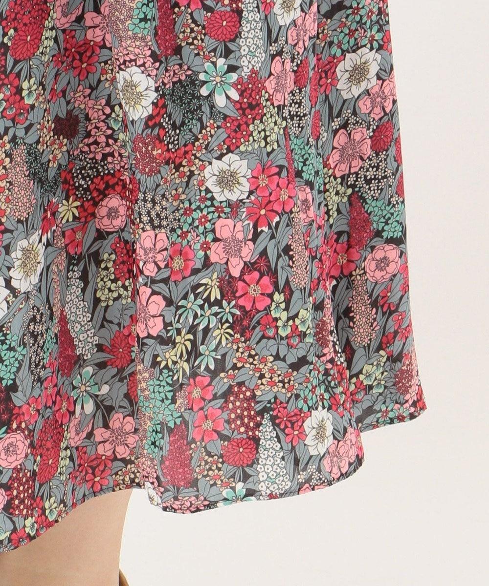 組曲 S 【WEB限定】LIBERTYプリント ギャザースカート レッド系5