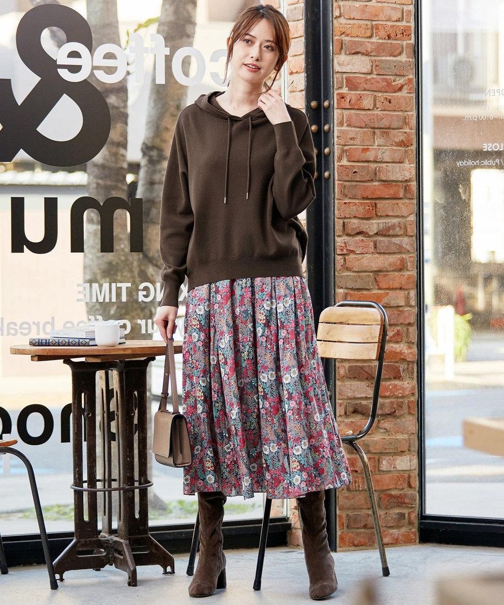 組曲 S 【WEB限定】LIBERTYプリント ギャザースカート グリーン系5