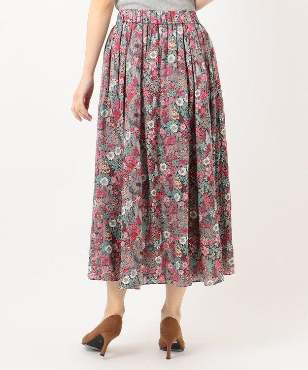 組曲 S 【WEB限定】LIBERTYプリント ギャザースカート