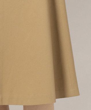 組曲 【小倉優子さん番組着用/洗える】C/Lyoギャバストレッチ マリンスカート キャメル系