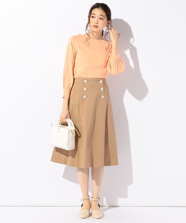 組曲 【小倉優子さん番組着用/洗える】C/Lyoギャバストレッチ マリンスカート