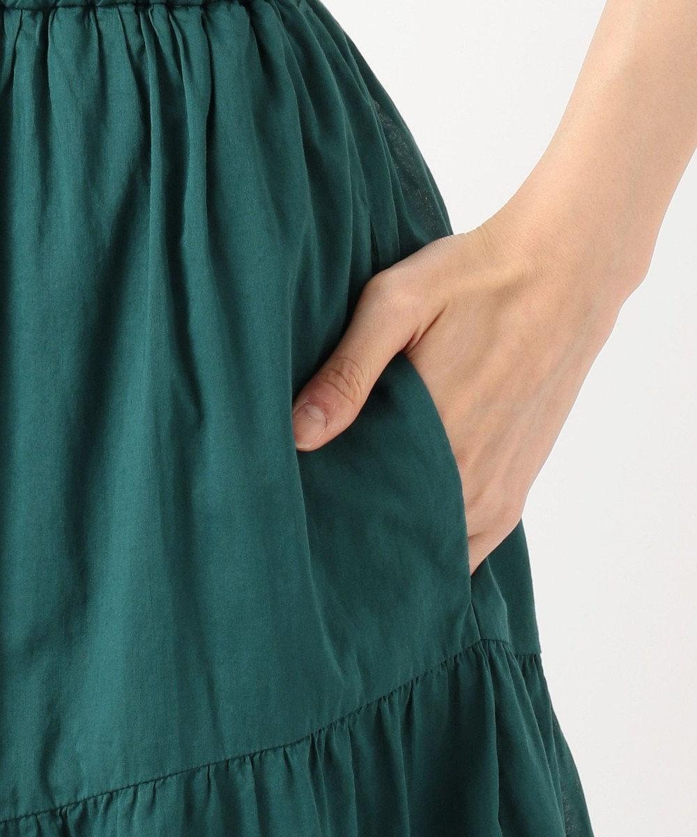 組曲 L 【WEB限定カラーあり】エアリーボイル アシンメトリーティアードスカート ブラック系