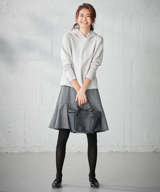 組曲 S 【洗える】ヌーベルチェルビック スカート ライトグレー系