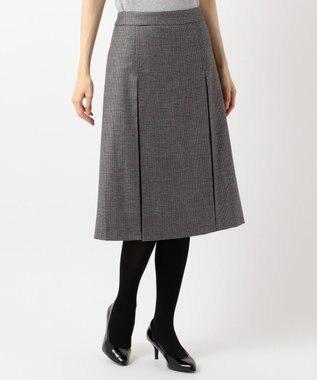 組曲 L 【Lサイズ仕様】ELANガンクラブチェック スカート グレー系3