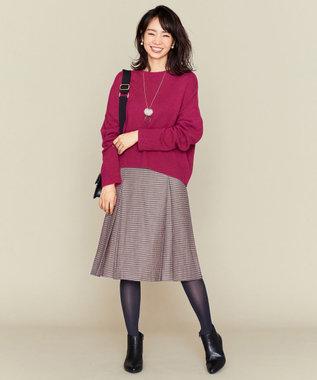 組曲 L 【Lサイズ仕様】ELANガンクラブチェック スカート パープル系3