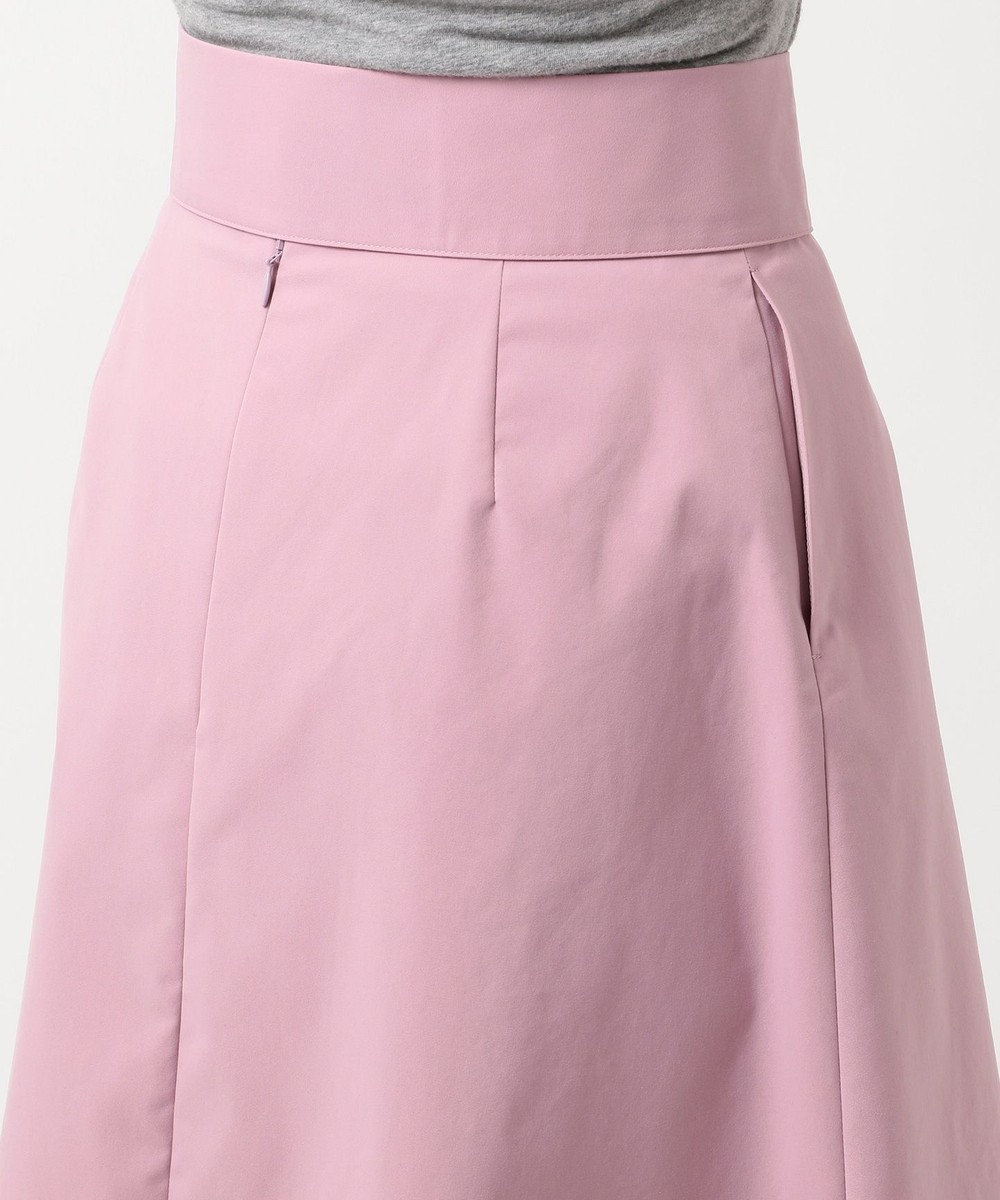 組曲 【洗える】ライトタスランストレッチ スカート ピンク系